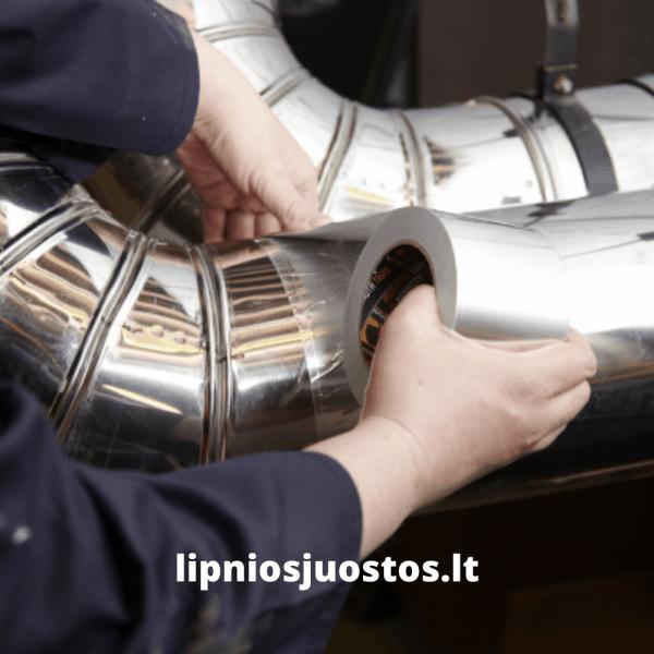 Lipni aliuminio juosta ortakiams ventiliacijai sandarinimui kondicionavimo sistemoms